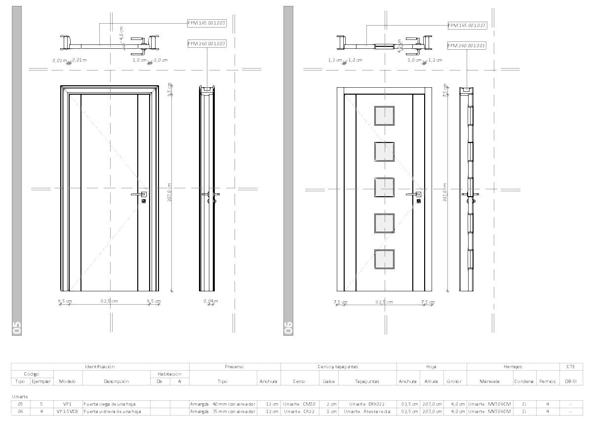 Planilla de carpinter a interior para puertas puertas y - Foros de carpinteria ...